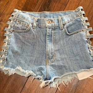 LF cutout shorts